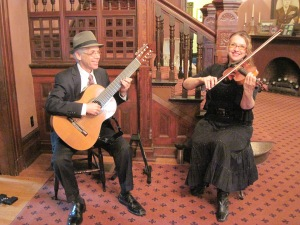 Peter & Tatiana performing at the Marshall House